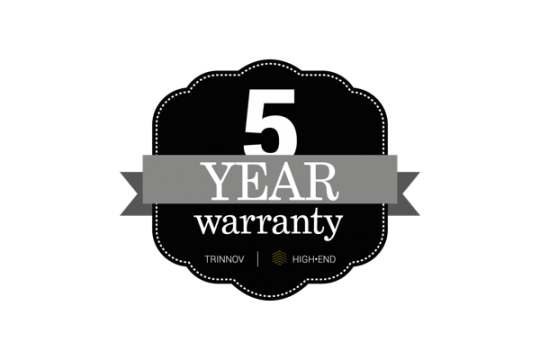 Trinnov Now Offers 5 Year Warranty On High-End Products logo
