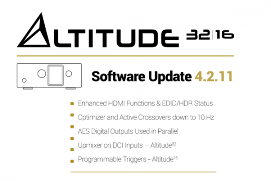 Trinnov Releases a Major Software Upgrade for Altitude Processors logo