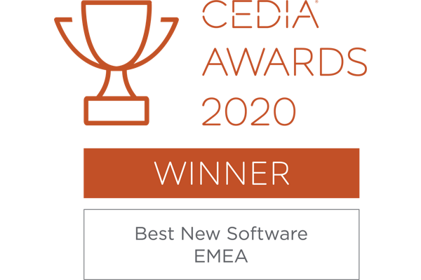 Trinnov Wins Best Software at CEDIA Awards 2020 logo