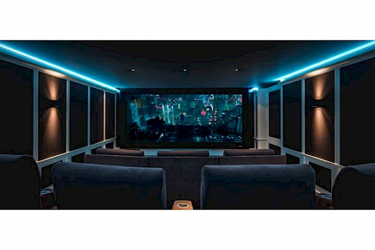 How many rows of seats are in your home theater? logo